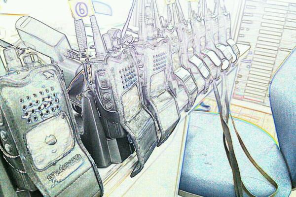 無線機 架線工事