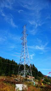 架線電工 鉄塔建設 現場 岐阜県関市板取 鉄塔組立工事