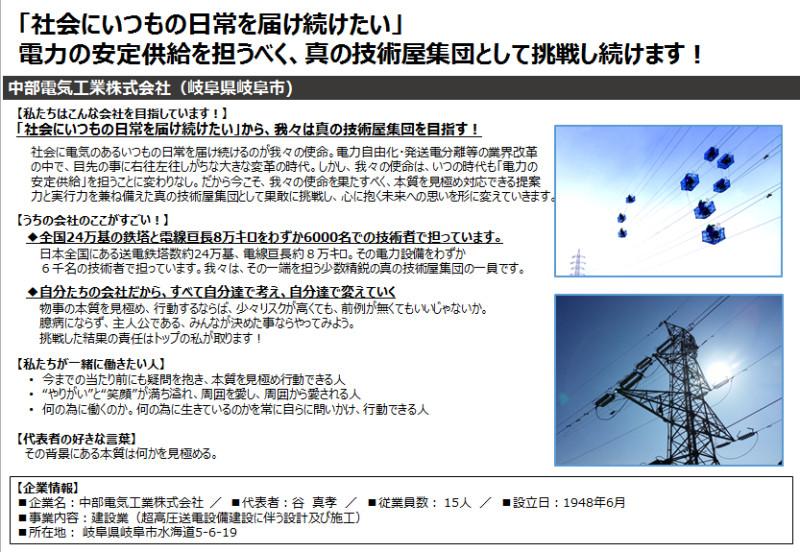 シゴトフェスタ 名古屋 ウインクあいち NPO G-net 合同企業説明会 中部電気工業