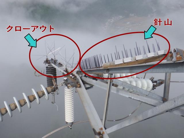 カラスの巣 鳥害対策工事 鉄塔 高所 営巣