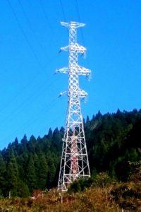 送電線の架線工事完了