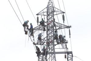 架線電工 ラインマン 鉄塔 訓練 研修
