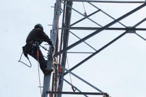 訓練の様子 架線工事 中部電気工業(株)