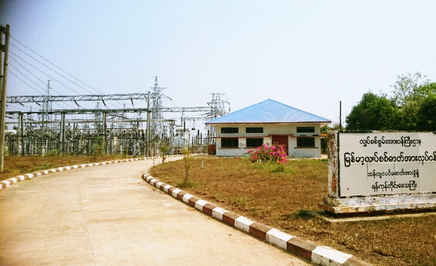 ミャンマーの変電所