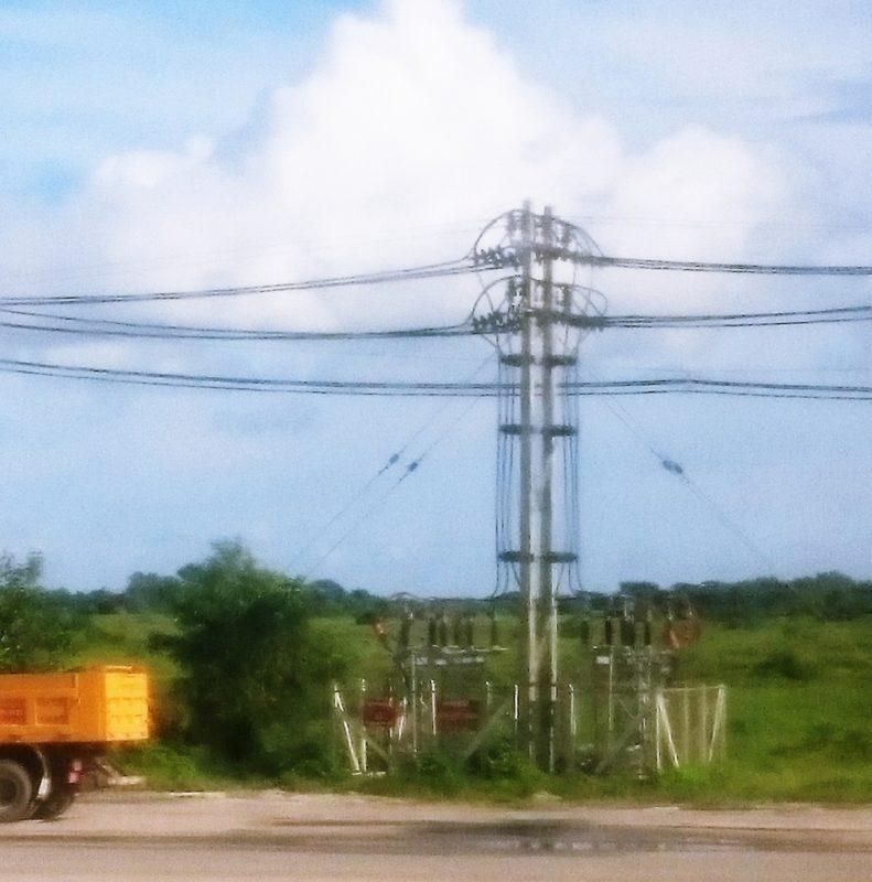 ミャンマー 視察  ティラワ工業団地 電源 架空送電線工事 新設工事 経済特別区 開発 ヤンゴン