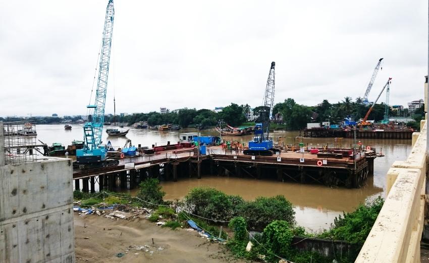 ミャンマー視察2 「新タケタ橋 建設」