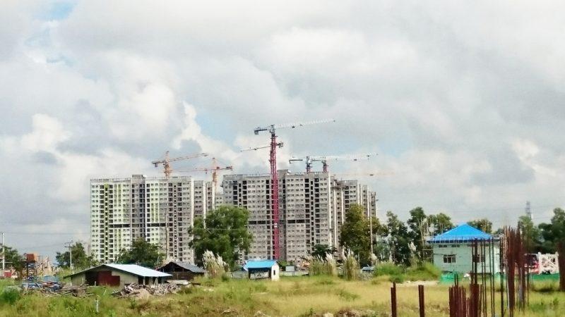 ミャンマー 企業 施工 現場 見学 視察 新築 工事 ビル 建設 建築