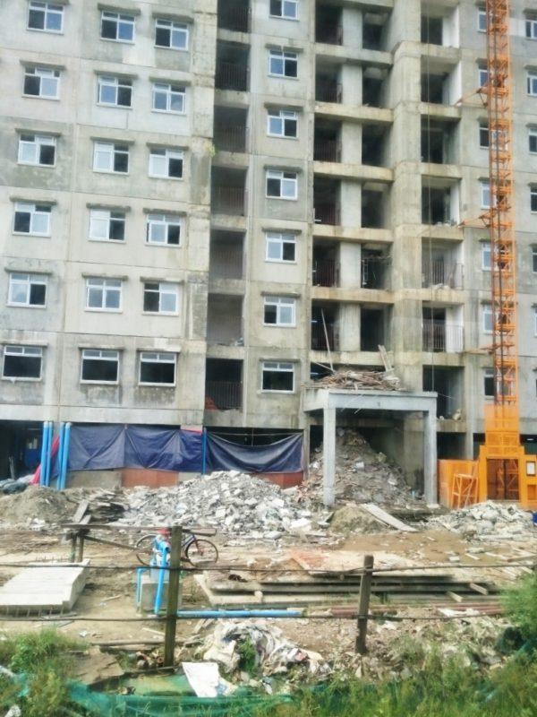 ミャンマー 企業 施工 現場 見学 視察 新築 工事