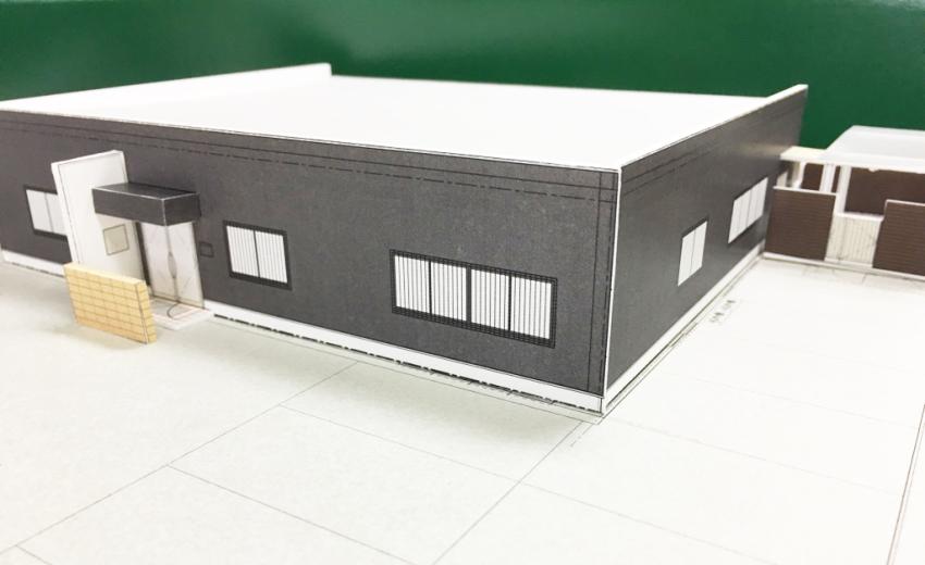 新社屋 模型 設計 中部電気工業(株)