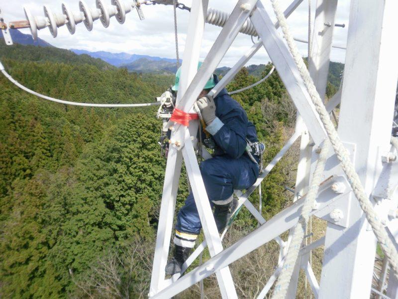 ポケットコンパス 弛度調整 電線 弛み 鉄塔 測定
