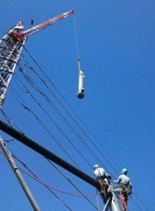 CT-36 クライミングクレーン 架空送電線 鉄塔組立工事