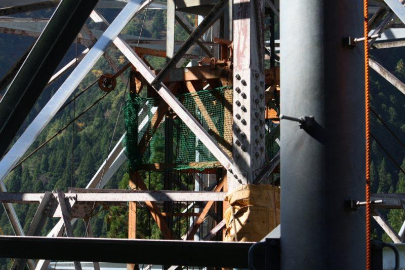 クライミングクレーン CT-36 鉄塔組立工事